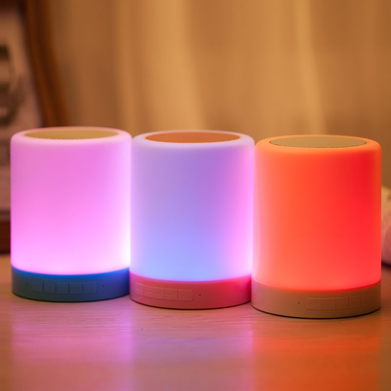 LED lamp Bluetooth speaker (5)