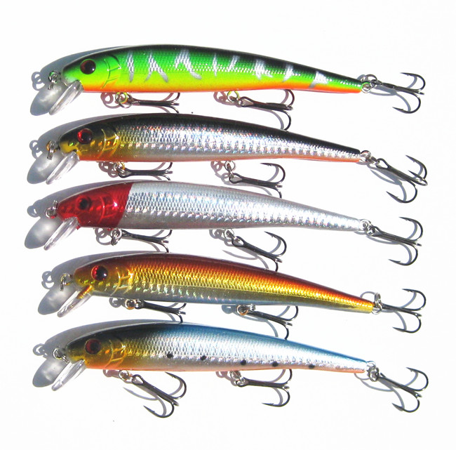 13cm/19g Fishing Lures Hard Bait Isca Artificial Bait Crankbait Slow Sinking Minnow Wobbler Crank Bait Free Shipping(China (Mainland))