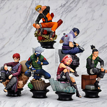 6 Pcs/set Naruto Action Figure 9cm Gaara Kakashi Sakura Uzumaki Hatake Figure Toys PVC Action Figure Brinquedo For Kids