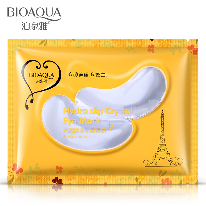 5pcs/lot Water embellish smooth crystal eye mask nourish moisture to relieve eye muscle fade out fine lines eye film SEC004(China (Mainland))