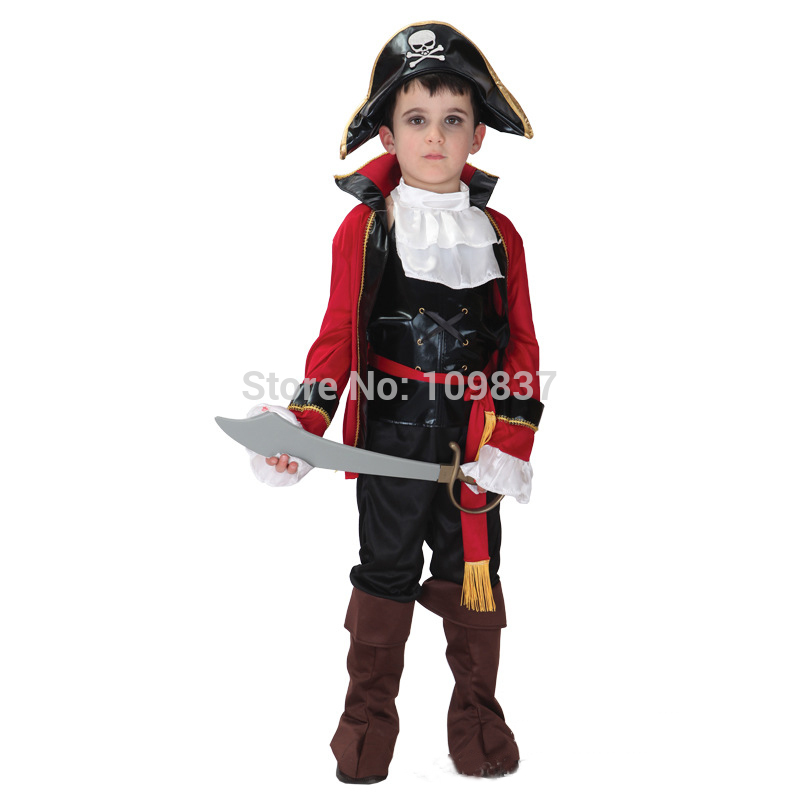 Cosplay Carnival Costume Caribbean Pirate Fancy dress Kids Halloween Party Decorations Children Gifts D1545E - Sequoia Trading Company (No. 2 store)
