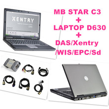Best for Mercedes Benz Diagnosis MB Star C3 Multiplexer Scanner Tool +V2015 XENTRY Software HDD + D630 Laptop Free Shipping(China (Mainland))