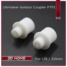 10 Stücke Ultimaker Hot End Isolator Koppler PTFE Teflon Innenhülse Für 1,75mm 3mm Filament Hoher Qualität Für 3D Drucker Teile(China (Mainland))