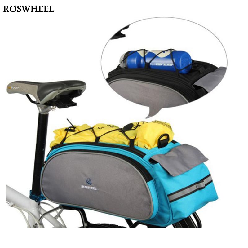 Bicycle Bag Cycling Pannier Rear Seat 13L Rack Trunk Multifunctional Shoulder Handbag Bike Backpack Accessories HandBag - clothing franchise store