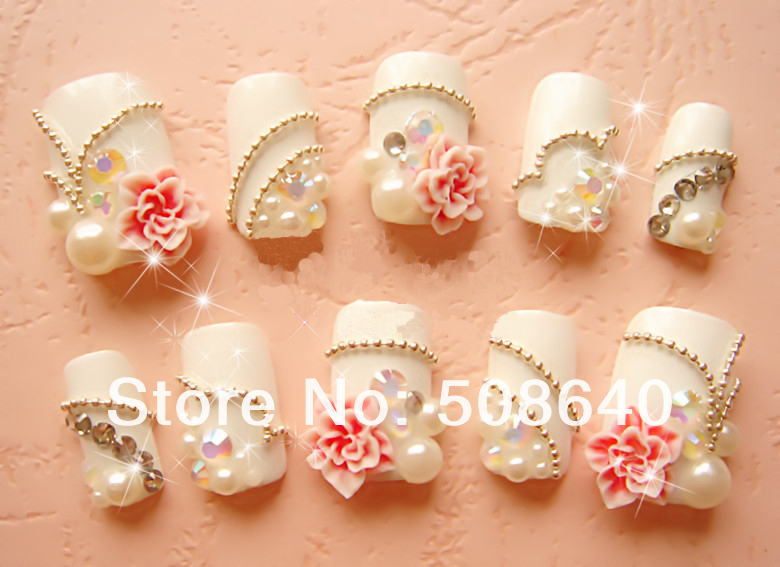 Nail art 3d decorations charms clay accessories diy for 3d nail art decoration