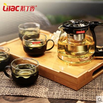 Hot Sale 5pcs Glass Teaset,150ml*4 Teacups+700ml Teapot with filter/strainer, Popular&Top Glass Tea Set(China (Mainland))