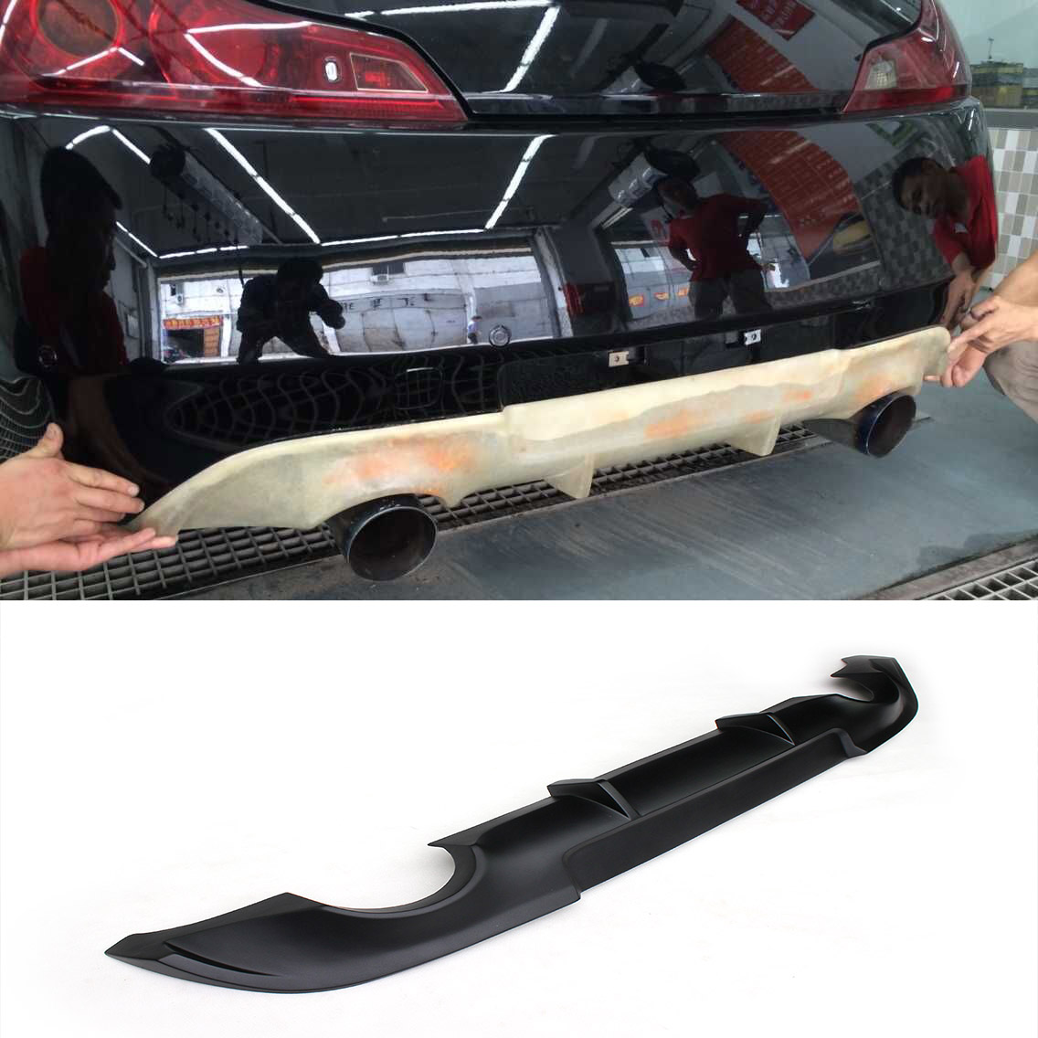 G37 FRP JC styling car rear spoiler diffuser for infiniti,auto rear diffuser fit for G37 2 door 2009-2013 (not fit USA market)(China (Mainland))