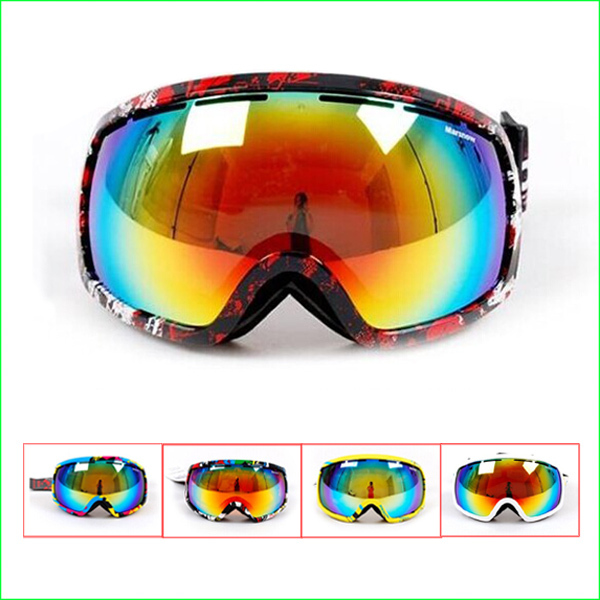FG66M New Brand Skiing goggles double lens anti-fog big spherical professional ski glasses Unisex Multicolor Snowing Goggles(China (Mainland))