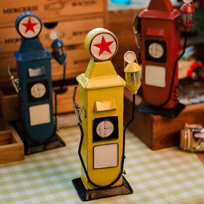 HOT Zakka 11*7.5*26cm vintage 3 colors European metal mailbox model decoration crafts home deco festive gift(China (Mainland))