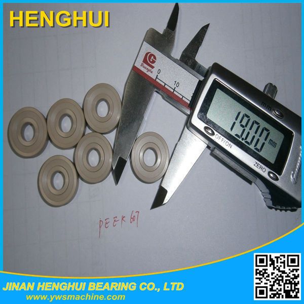 10 pc/lot 607 bearing 7*19*6 double seal full PEEK material ceramic ZrO2 ball(China (Mainland))