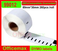 100xrolls dymo compatible labels 99014 36mm x 89mm
