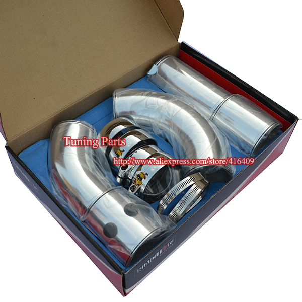 Hot ! 3inch Cold air intake universal Auto air filter pipes(China (Mainland))