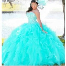 Buy Elegant Ball Gown Quinceanera Dresses Girls Red Sweetheart Beaded Prom Dress Gown Vestidos De 15 Anos for $129.05 in AliExpress store