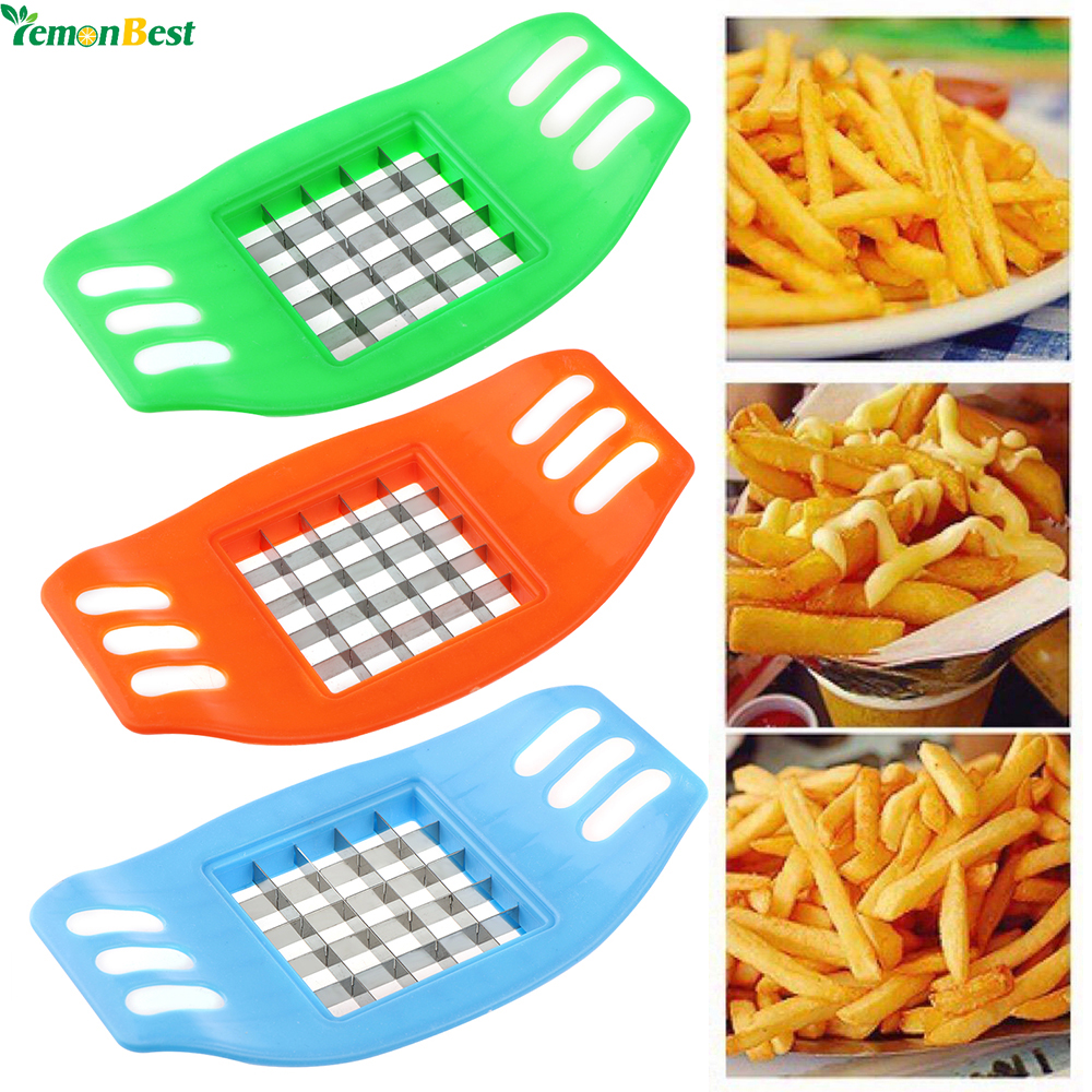 1Pcs Potato Chips Cutter Stainless Steel Vegetable Square Slicer Cutting Device Cut Fries Kitchen Tool For French Fry Cutters(China (Mainland))