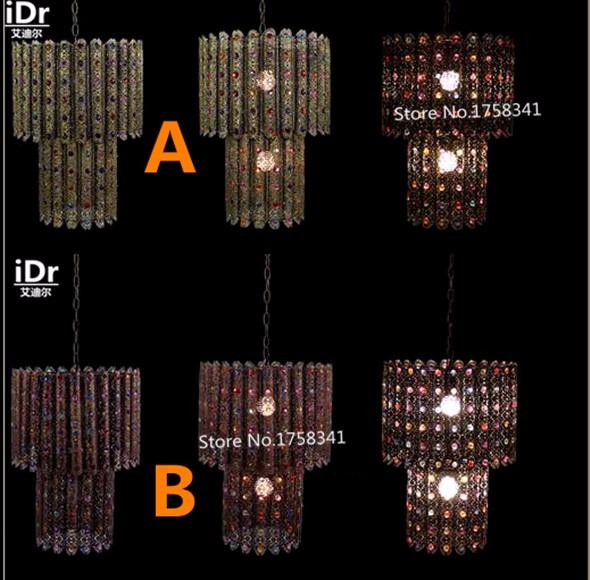 Купить Арабский золотой кристалл лампы спальни лампа ресторан огни гостиная лампы освещения лампы Подвесные Светильники Rmy-0629