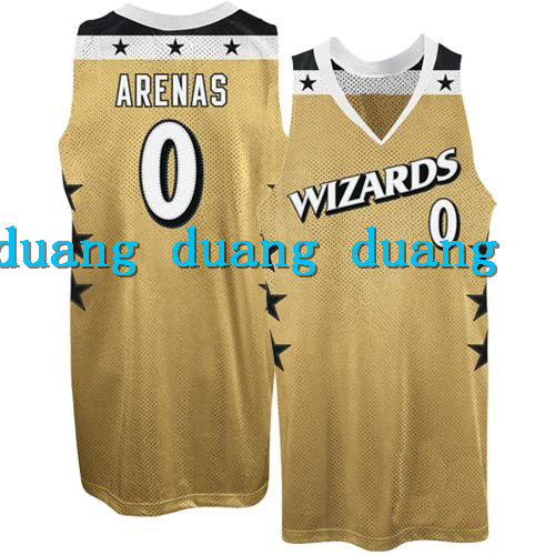 Free Shipping #0 GILBERT ARENAS Throwback Basketball Jerseys,Mens Gold BLUE WHITE custom any sizes,all name and numbers are sti(China (Mainland))