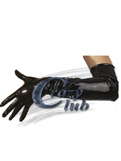 Crazy club_New arrival Black latex long gloves with zipper arm length rubber gloves zentai fetish free shipping fast delivery(China (Mainland))