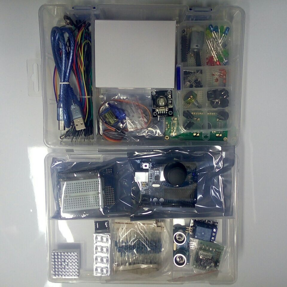Starter kit with Step Motor / Servo /1602 LCD / jumper Wire/ UNO R3 starter Kit for ARDUINO ultimate kit(China (Mainland))