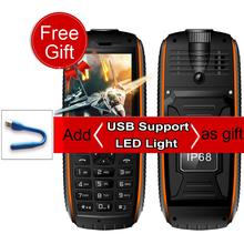 "Vkworld Stone V3 max Mobile Cellphone 21 Keys Russian Keyboard IP 68 Waterproof 2.4"" Power Bank 5300mAh Long Standby Dual SIM FM(China (Mainland))"