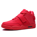 New 2015 Winter Fashion Men Shoes High Top Casual Red Suede Leather Boots Men Trainers Breathable