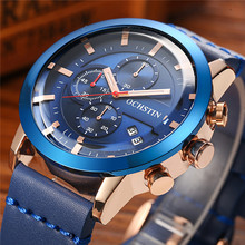 Buy OCHSTIN Mens Watches Top Brand Luxury Male Leather Sport Waterproof Chronograph Quartz Military Wrist Watch Men Clock Saat 2017 for $20.99 in AliExpress store