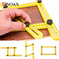 Binoax Four Sided Ruler Measuring Instrument Template Angle izer Tool Mechanism Slides