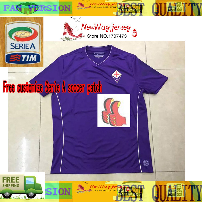 Top Thai version 15 -16 Florence fiorentina jersey 2016 Babacar Cuadrado Abramovich football shirt(China (Mainland))