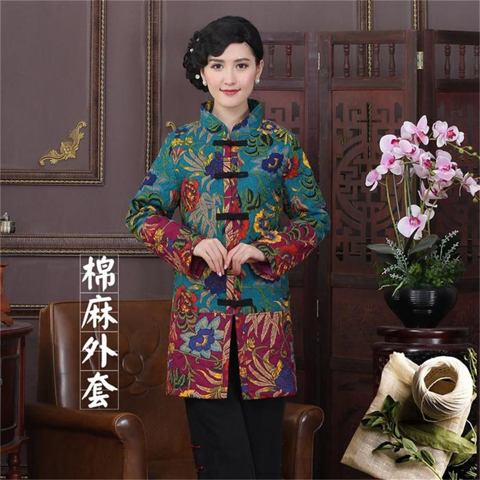 Hot Sale Mutilcolor Coat Chinese Tradition Womens Cotton Linen Thin Wadded Jacket Coats L XL XXLОдежда и ак�е��уары<br><br><br>Aliexpress