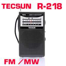 TECSUN R-218 AM/FM/TV Pocket Radio R218 Radio Receiver Built-In Speaker Free Shipping