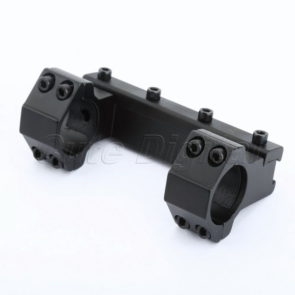 Hunting Tactical Aluminum 100mm Long High Profile Dovetail Rail Top Waver Rail 25 4mm Scope Ring