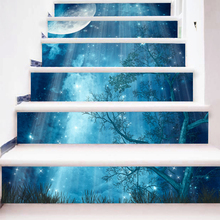 Buy 6 Pieces/Set Creative DIY 3D Stairway Stickers Fairy Tale Forest Pattern Room Stairs Decoration Floor Decals Wall Sticker for $19.04 in AliExpress store