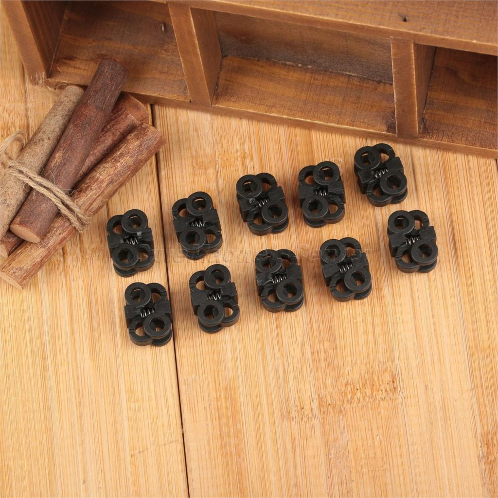 10pcs Black Plastic Shoes Decorations Shoelace Buckle Rope Clamp Cord Locks Stopper Outdoor Running Easy & Faster Sport