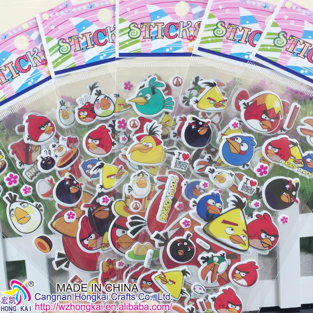 1000pcs/lot Birds Scrapbooking Foam Cartoon 3D Bubble Sticker Cute Mobile Stickers Best Gift for Children Kids Promotion sticker<br><br>Aliexpress