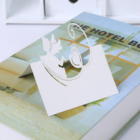 100pcs White Laser Cut Wedding Table Place Card Name Card Wedding Party Table Decoration Hollow Three-Dimensional  Angel Design