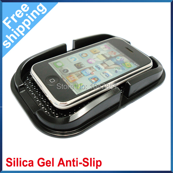 Free Shipping Car Silicone Holder Non Slip Pad for Cellphone/GPS/MP3 1PCS(China (Mainland))