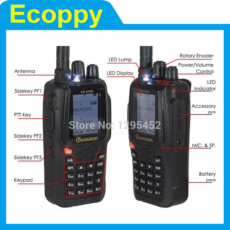 WOUXUN KG-UV8D VHF& UHF Dual Band DTMF Two-way Radio (Duplex Repeater Mode)(China (Mainland))