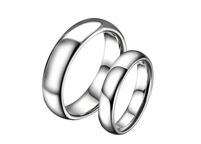 HOT SALE His & Hers Matching Set 4mm/6mm Tungsten Carbide Ring Couple Wedding Band Set Lover's Classic Rings(China (Mainland))