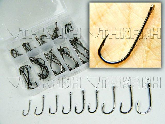 Baitholder ! 500Pcs 10box Pack (50Pcs/box) #3-#12 Freshwater Carbon Black Bait Holder Baitholder Fishhook Fishing Hooks Set