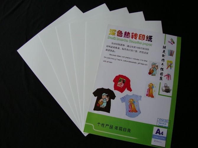 (A4*50PCS) Hot sale Dark Iron on Inkjet heat transfer paper for 100% cotton T-shirts , For Dark and Light Fabrics HTW-300(China (Mainland))