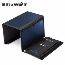 Buy BlitzWolf 20W 3A Portable Solar Power Bank Foldable Powerbank Cellphone USB Solar Panel Charger Power3S SunPower Phone for $50.99 in AliExpress store
