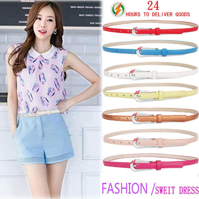 2016 New Brand Summer Fashion Fitting High Quality Luxury Female Casual Women Belt Ms Dress Gem Sale Wholesale(China (Mainland))