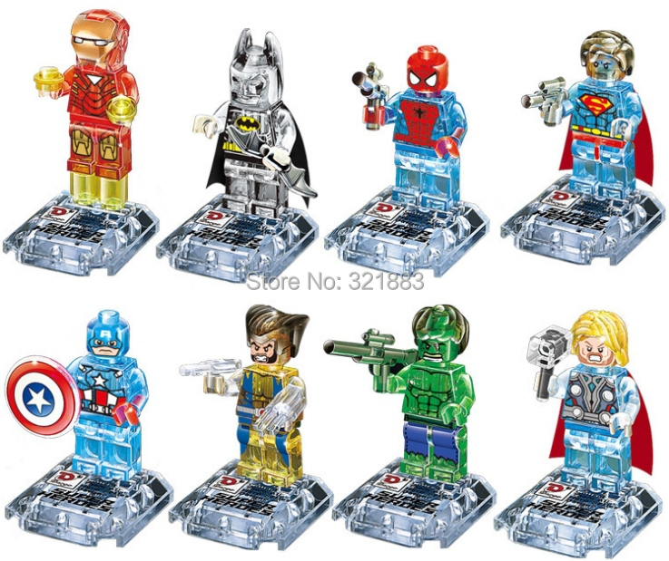 Dagao no.842 Super Heroes Avengers marvel crystal clear figures Building Blocks Sets Minifigure Educational DIY baby toys - F & C Store store