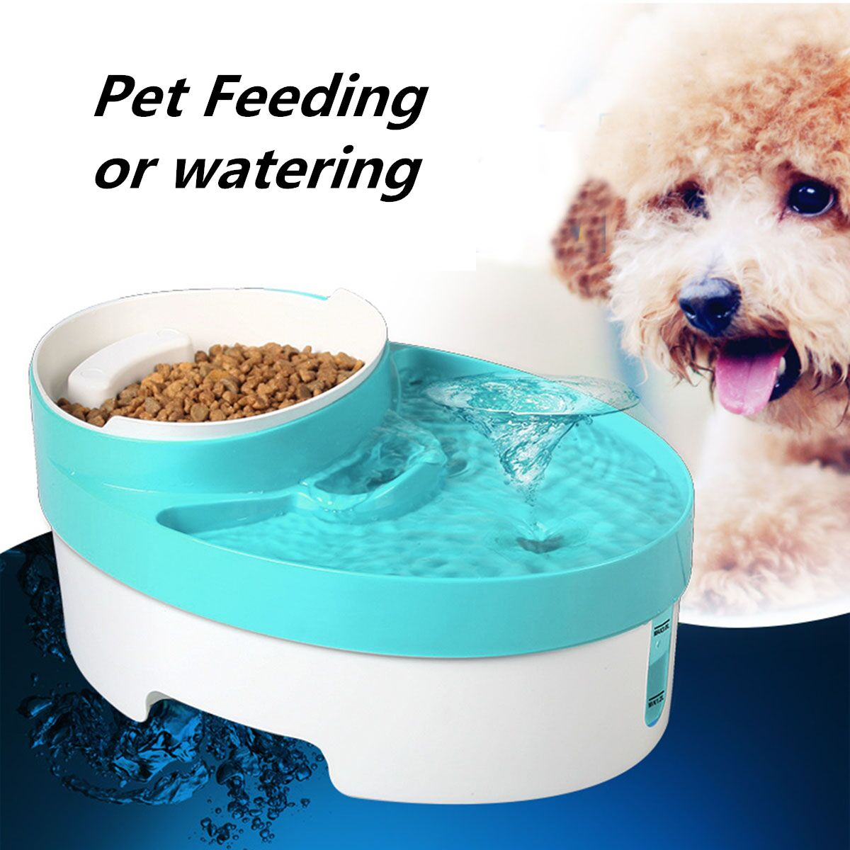 ABS 3 in 1 Automatic Pet Feeder Water Fountain Drinker Puppy Dog Food Bowl Dish Dispenser Portable Pet Feeding Tools Accessories(China (Mainland))