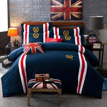 Luxury ropa de cama bedding set Cotton 4pcs bedclothes bed linen sets duvet cover set bedsheets cotton bedcover jogo de cama(China (Mainland))