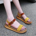Woman Sandals Elegant Hit Candy Color Platform Women Shoes Summer Thick Bottom Sandals Women Genuine Leather