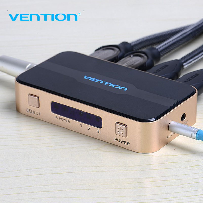 Original VENTION 3 input 1 output HDMI Switch Switcher HDMI Splitter HDMI Cable with Audio for XBOX PS3 Smart HD 1080P HDMI(China (Mainland))