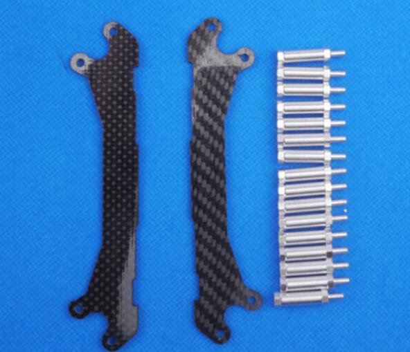 3k carbon fiber material Landing Skids Heighten for DJI Phantom (finding space for mounting camera gimbal)(China (Mainland))