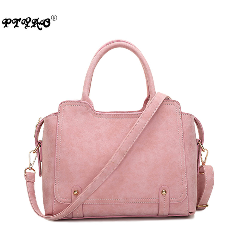 New 2016 Trench Pink Frosted Rivet Women Handbags Cross-body One Shoulder Messenger Bags Woman Vintage Designer Bag<br><br>Aliexpress