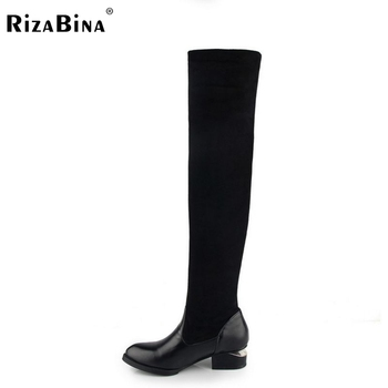women high heel over knee boots ladies martin winter snow boot warm botas classics fashion footwear shoes P19693 size 34-42