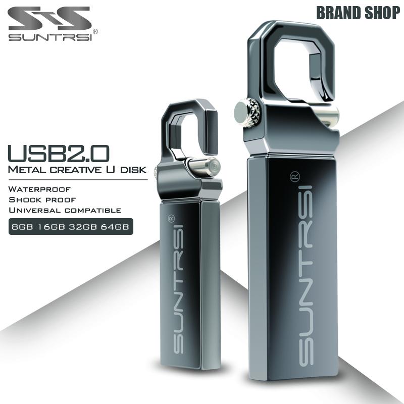Suntrsi USB Flash Drive 64GB Metal Pendrive High Speed USB Stick 32GB Pen Drive Real Capacity 16GB USB Flash Free Shipping(China (Mainland))